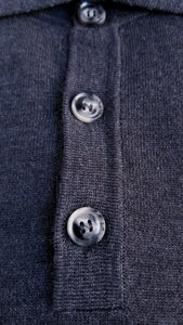 Grey Merino Polo
