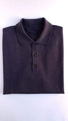 Brown Merino Polo