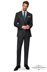 Vitale Barberis- The Charcoal Birdseye Suit
