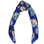Sugar Skull Scarf Blue