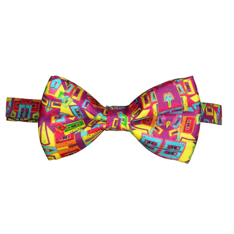 Silk Bow Tie Retro Tapes