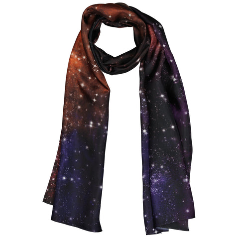 Space Scarf Silk Scarf Long scarf Galaxy Star Gift Wildcard Silks Scarf for her Scarf for him Wrap or Shawl 178 x 51 cms