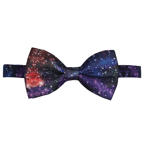 Space Silk Pre-Tied Bow Tie  For Men Mens Bow tie Galaxy Stars Star Neck Tie