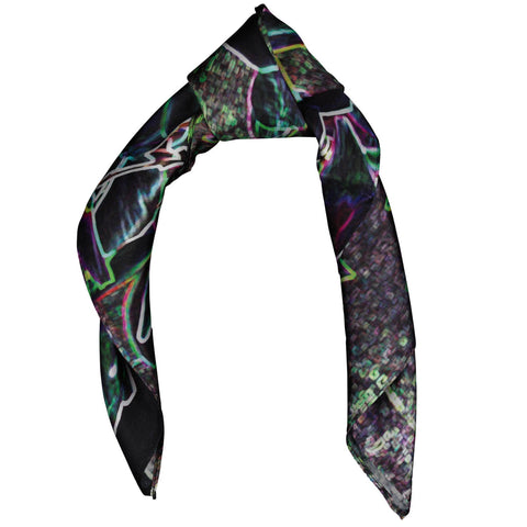 Silk Scarf Square Magnolia Design,Small,Wedding,Evening Wear,Birthday Gift,Wildcard Silks,Headscarf, Artwork, Neckerchief, Clothing,53x53cms