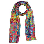 Sugar Skulls Silk Scarf Long