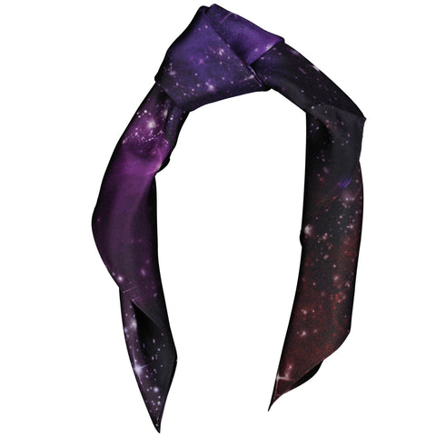 Silk Scarf Pocket Square Space Design, Small,Wedding, Evening wear, Birthday Gift, Wildcard Silks, Headscarf, Neckerchief, Clothing,53x53cms