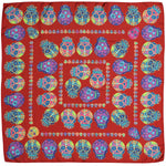 Red Sugar Skull Silk Pocket Square