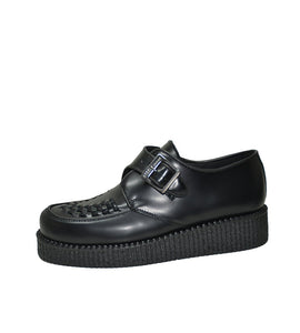 Creepers Single Sole Black Box Leather