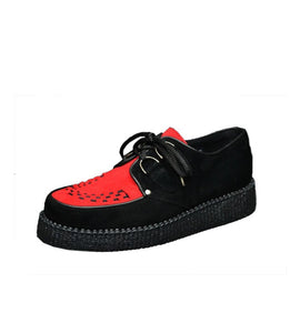 Creepers Single Sole Red Suede