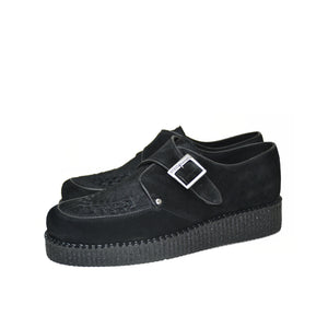 Creepers Black box leather and Black suede leather.
