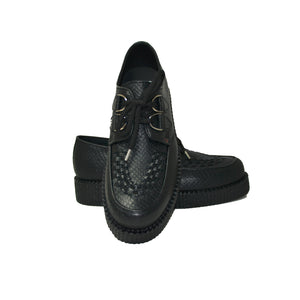 Creepers Black Snake Grain Leather