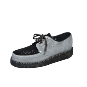 Creepers Grey and Black Suede Leather
