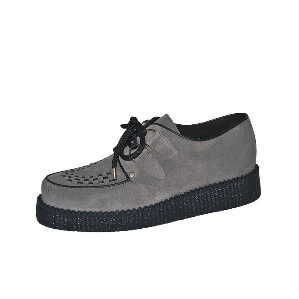 Creepers Grey Suede Leather