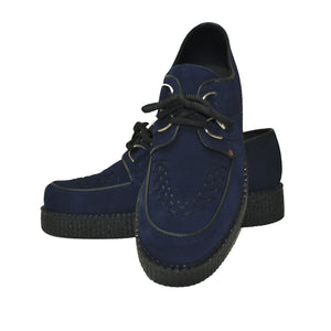 Creepers Navy Blue Suede Leather