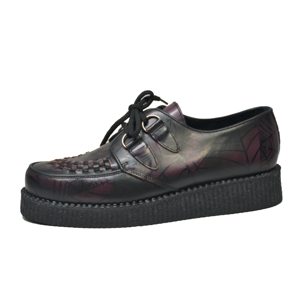 Creepers Red Tarantula Rub Off Leather