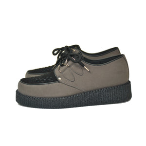 "Creepers Grey and Black VEGAN ""Suede"""