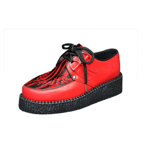Creepers Red Grain and Red Zebrino print on hair