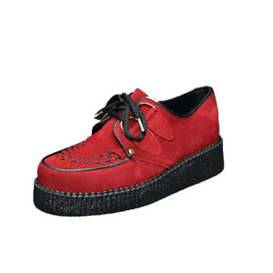 Creepers Red Suede Leather