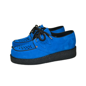 Creepers Blue Suede Leather