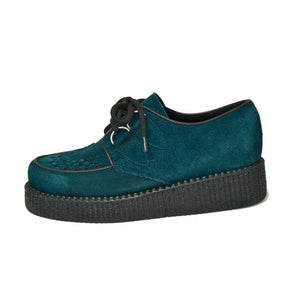 Creepers Petrol Suede Leather