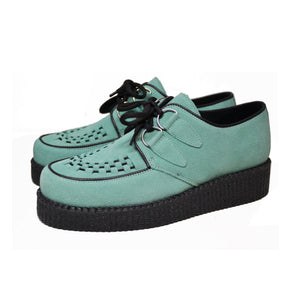 Creepers Lime Nobuck Leather