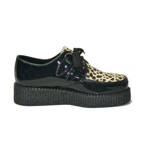 Creepers Black Patent and White Leopard