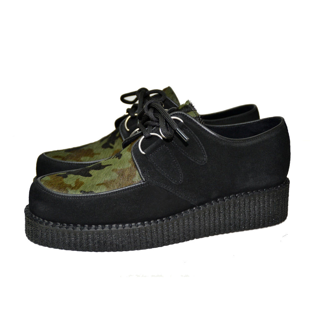 Creepers Black Suede and camuflage