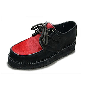 Creepers Black Suede and Red Hair
