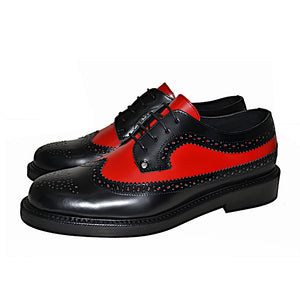 Brogue Shoe Black and Red