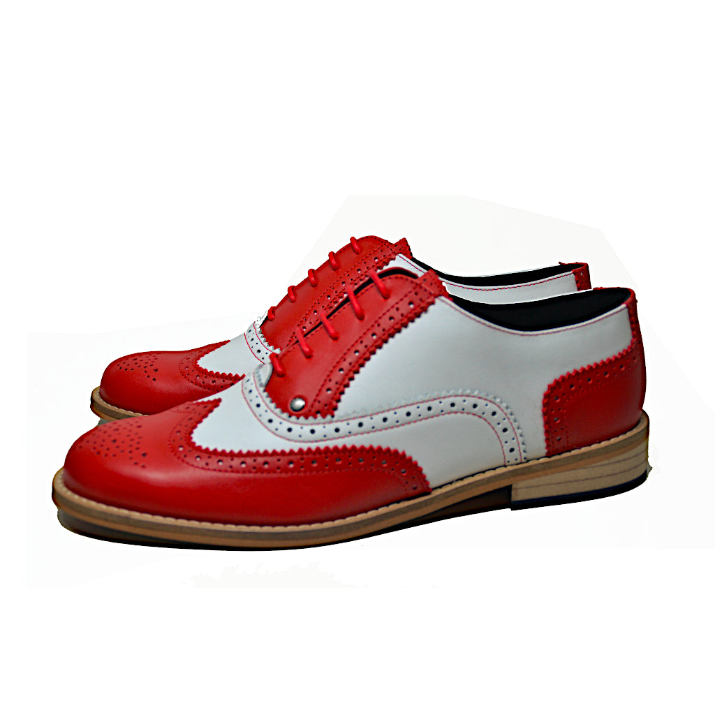 Brogue Shoe Red and White