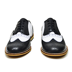 """Gatsby"" Shoe Black and White"