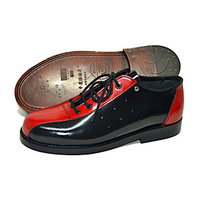 Bowling Shoe Black and Red Leather Sole