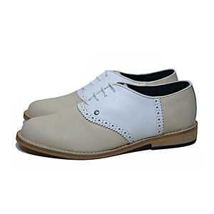 Saddle Shoe Beige and White