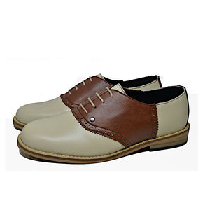 Saddle Shoe Beige and Brown