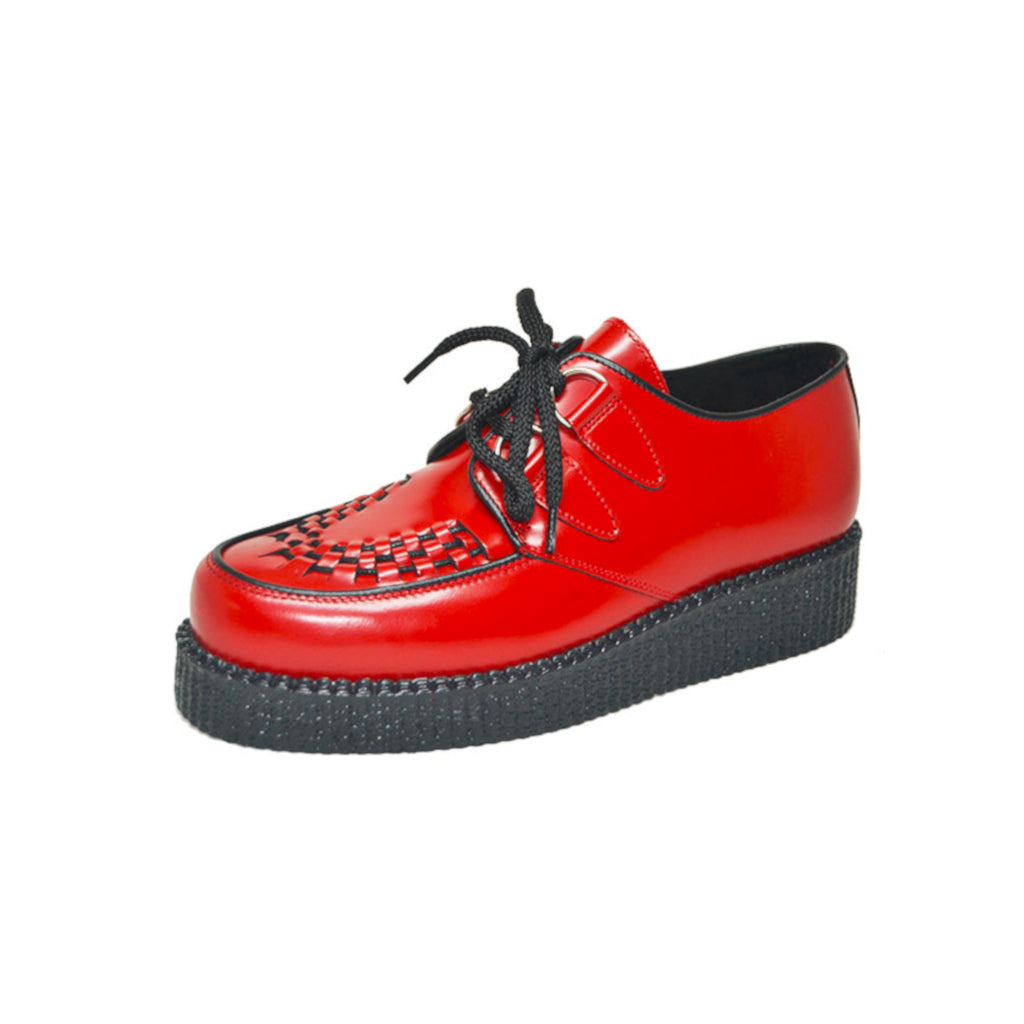 Creepers Red Box Leather