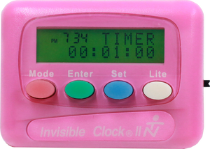 Pink Invisible Clock II