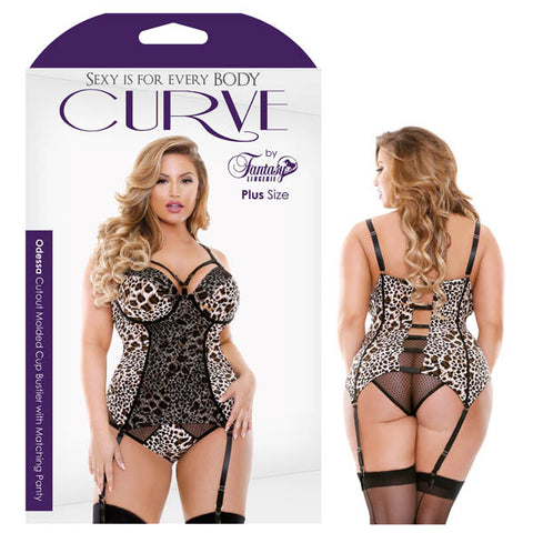 Curve Odessa Cutout Molded Cup Bustier with Matching Panty