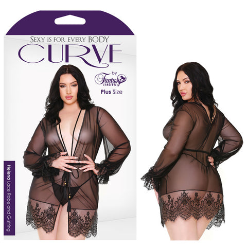 Curve Helena Lace Robe & G-String