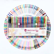 Load image into Gallery viewer, ZSCM 100 Unique Colors Gel Pens Set With Case for Adult Coloring Books Drawing Art Markers (100 Colors)