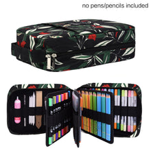 Load image into Gallery viewer, 202 Colored Pencils Pencil Case - 136 Color Gel Pens Pen Bag or Marker Organizer - Universal Artist Use Supply Zippered Large Capacity Slot Super Big Professional Storage qianshan Leaf
