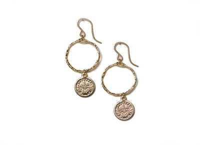 The Akazi Project Queen Coin Earring