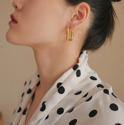 Hollow Chain Earring
