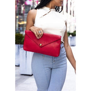 FLORENCE ENVELOPE CLUTCH RED - Linell Ellis