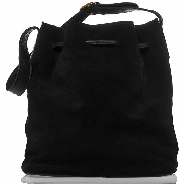 JOYCE BUCKET BAG - BLACK SUEDE