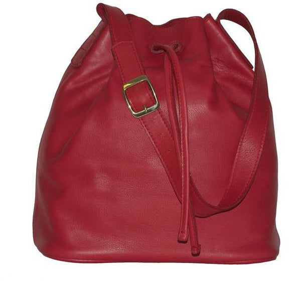 JOYCE BUCKET BAG RED