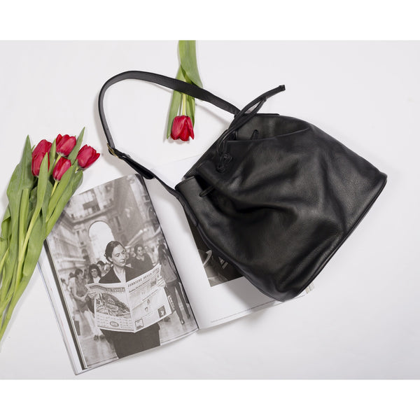 JOYCE BUCKET BAG - BLACK