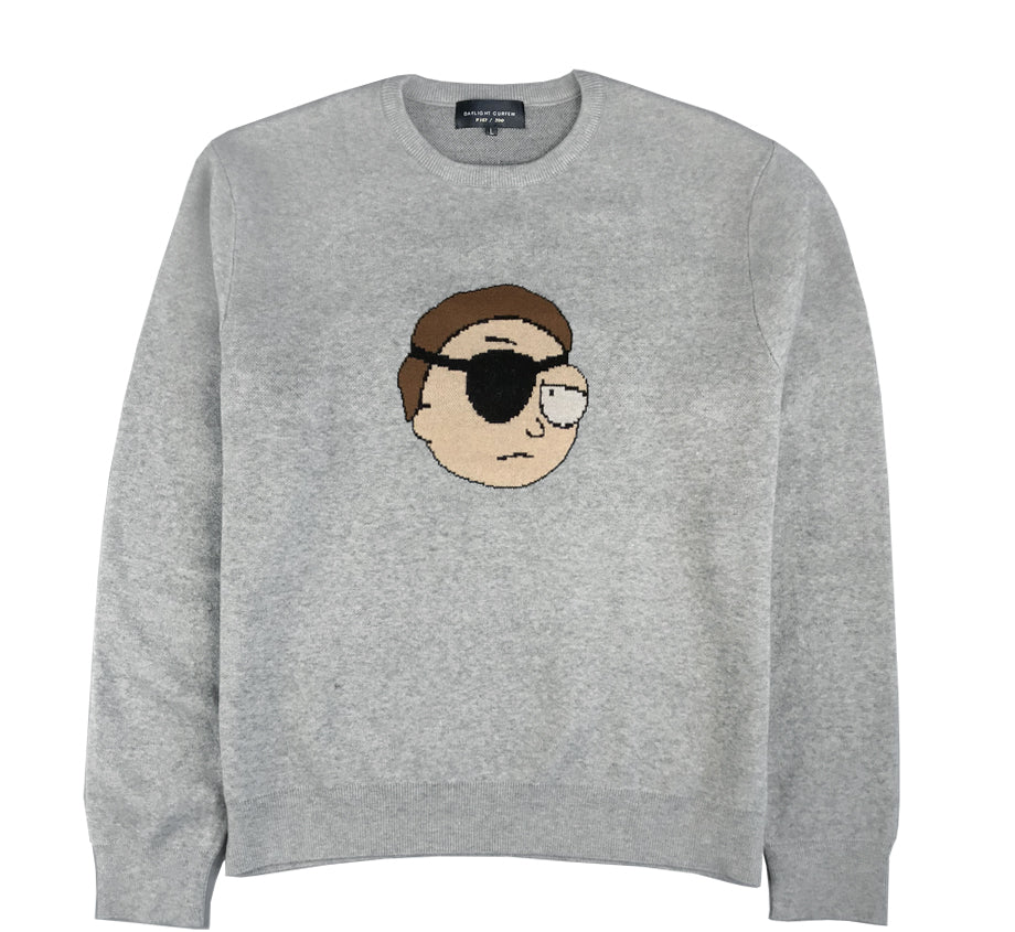 Evil Morty Heather Knit Sweater (Edition of 200 - Woven-Numbered)