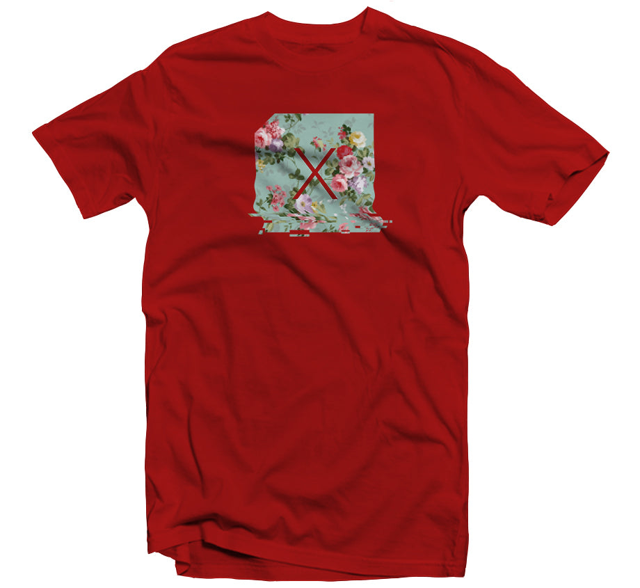 Floral Gitch T-shirt (Red)