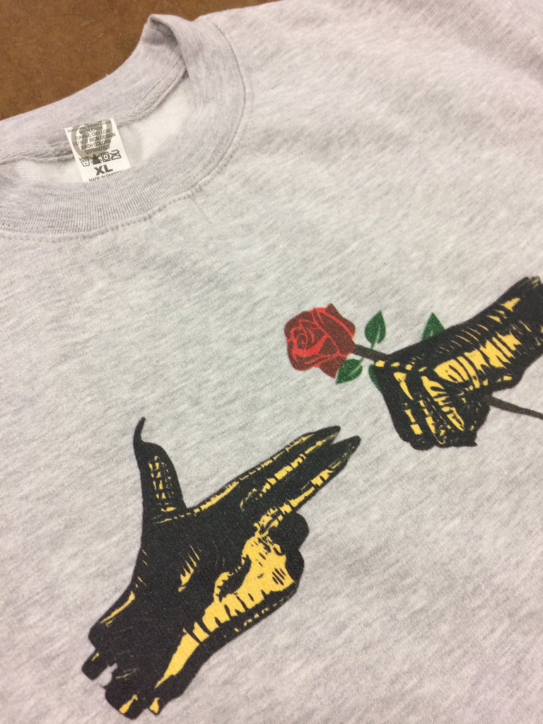 Smell The Roses Crewneck Sweatshirt (Heather Grey)