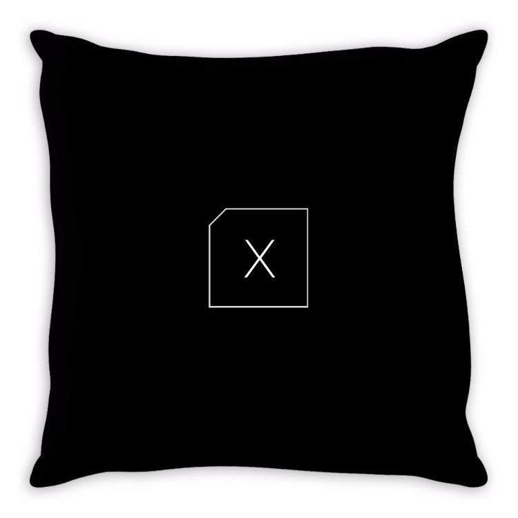 Redacted Luxe Suede Pillow